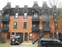 4½, Plateau Mont-Royal; 900sqft, 1275$/mth; 5 appliances incl. S