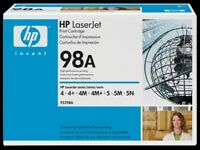 HP 98A Black Original LaserJet Toner Cartridge (92298A)