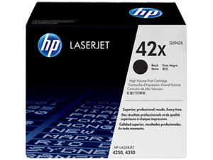 NEW! HP 42X Black High Yield LaserJet Printer Toner (Q5942X)