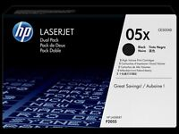 HP CE505XD Toner Cartridges (Twin pack, black)