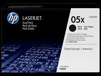 HP Toner Cartridges - CE505XD / 05X - Dual Pack