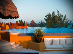 Luxurious Playa del Carmen 2 br for rent, steps from the beach
