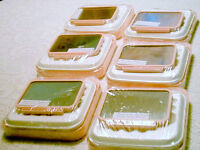 Pink Make up Trays with Dual Mirrors (Magnifying Mirror on Back)