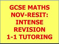 GCSE MATHS NOV-RESIT: INTENSE REVISION 1-1 TUTORING