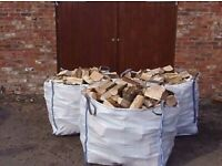 3x1tom bulk bags of barn dried seasoned hardwood firewood logs with free delivery and stacking £130