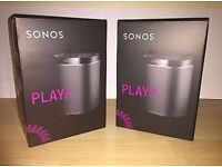 *BNIB* Two Sonos Play 1 speakers in black. £260 for both