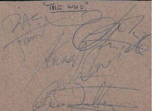THE WHO (1981) SIGNED AUTOGRAPHS