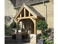 Custom oak porches, hand made and installed to your specifications