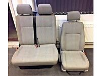 VW T5 MATCHING DRIVERS & BENCH / TWIN (FLIP-UP) SEATS (Inca Fabric)
