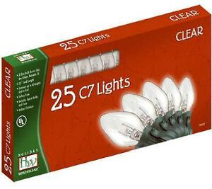 C7 Clear Christmas Lights
