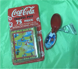 NEW Coca-Cola 75 piece puzzle and keychain