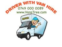 MAN AND VAN HIRE WITH A DRIVER HOUSE MOVING LORRY LUTON SIZE TRUCK MOVERS REMOVALS DELIVERY SERVICE