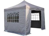 3x3m Pop Up Waterproof Gazebo with 4 Side Walls - Grey