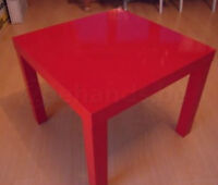 LACK Table d'appoint, ultrabrillant rouge