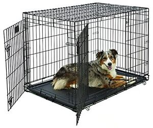 Life Stages Double Door Folding Dog Crate - Large