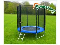 8ft Boomerang Plus Trampoline Brand New never been used still in box
