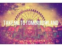 Tomorrowland ticket Belgium 2016 Saturday pass