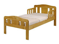 Toddler bed - pine, excellent condition