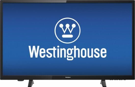 "Westinghouse - 32"" Class - LED - 720p - Crisp HDTV table top black television"