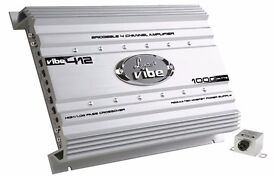 LANZAR VIBE 412N 4CHANNEL MOSFET AMPLIFIER BRAND NEW BOXED UNUSED
