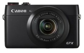 Canon PowerShot G7X Digital Camera (20.3 MP, 4.2x Zoom) immaculate condition with leather case