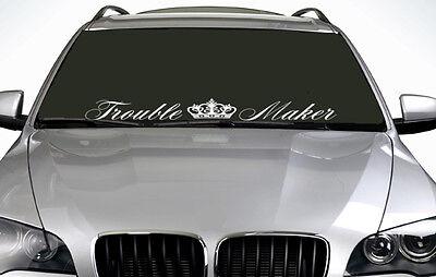 90cm Trouble Maker ANY COLOUR Windscreen Sticker EURO JDM Drift Car Vinyl Decal