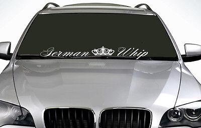 90cm German Whip ANY COLOUR Windscreen Sticker  JDM Sport Drift Car Vinyl Decal