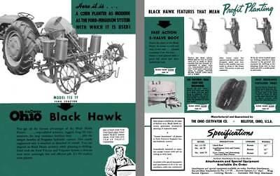 Ohio Cultivator Famous Ohio Black Hawk Mdoel 115 TF Corn Planter Spec Sheet ()