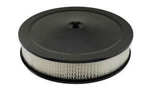 Competition Air Cleaner Assembly 14 x 3  Flat Black