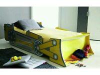 Kids Bed bulldozer JCB