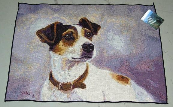 Jack Russell Terrier Tapestry Accent Rug ~ Artist, Linda Picken