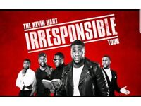 X2 tickets for Kevin Hart Irresponsible Tour - London 02. *(Saturday Sept 1st 2018)