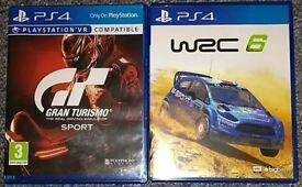 GT GRAN TURISMO SPORT & WRC 6 PS4 £10 EACH