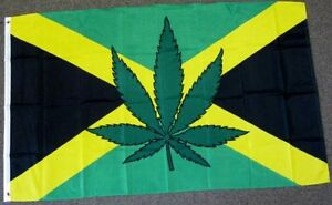 JAMAICA-MARIJUANA-FLAG-3X5-FEET-JAMAICAN-WEED-POT-LEAF-NEW ...