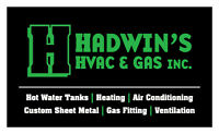 EXPERIENCED HVAC, residential tin, gas fitter or service person