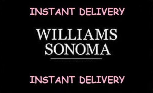 Williams Sonoma 15% Off Coupon Entire Purchase Online ONLY *INSTANT DELIVERY*