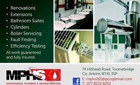 Plumbing and heating engineer fully insured