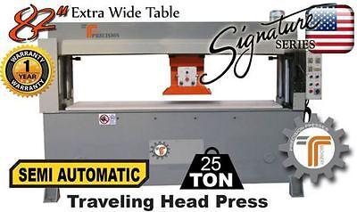 New Cjrtec 25 Ton Traveling Head Clicker Press Semi Automatic Extra Wide Table