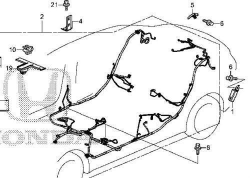96 Civic Floor Wiring Harness Diagram