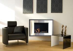 Art-Framed-Wall-Fireplace-Gel-Fuel-Ethanol-Fire-Ashless-Smokelss-Mount-Heat-Fire