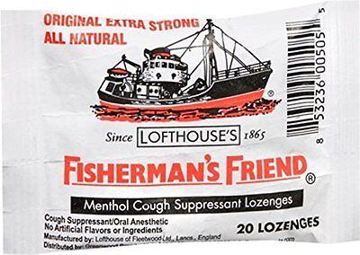 6 Pack Fishermans Friend Menthol Cough Suppressant Natural 20 Lozenges Each