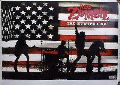 ROB ZOMBIE 2001 sinister urge promotional poster New Old Stock Mint Condition