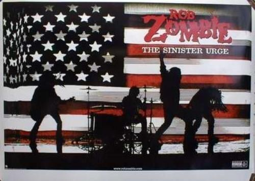 ROB ZOMBIE 2001 sinister urge promotional poster Flawless New Old Stock