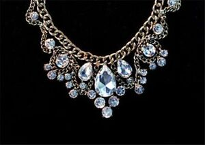 New Elegant Crystal Rhinestone Pendant Necklace
