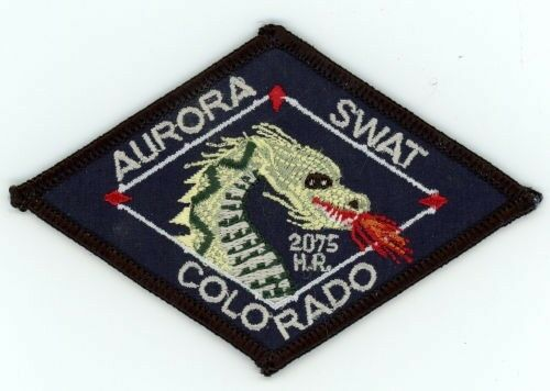 """AURORA POLICE COLORADO CO SWAT 4"""" LONG COLORFUL PATCH SHERIFF"""