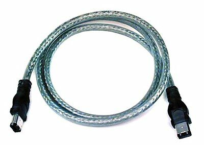 3 Ft Firewire 400 IEEE-1394 Cable 6 Pin Male / 6 Pin Male iLINK PC MAC Connector