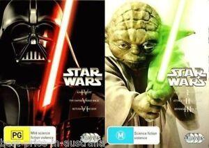 STAR WARS 1+2+3+4+5+6=I+II+III+IV+V+VI ORIGINAL+PREQUEL Trilogy DVD BRAND NEW R4