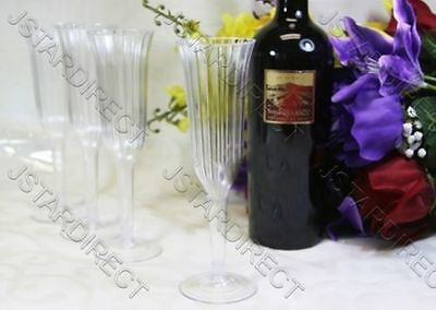 WEDDING -  60 120 240 PLASTIC CHAMPAGNE WINE FLUTES GLASSES!! 8.5