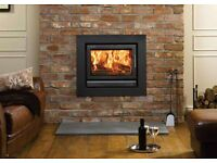 stoves OPEN LATE 6 DAYS cassette casette enamel red cream black gloss twinwall flue liner pipe
