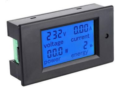 Diy Digital Lcd Panel Ac Power Meter 100a80260v Voltmeter- Ammeter Monitor